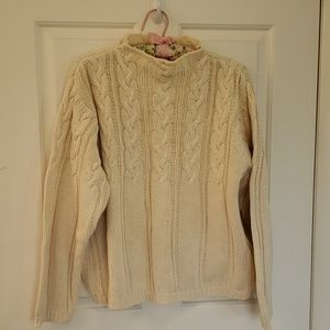 Eddie Bauer classic cable knit sweater